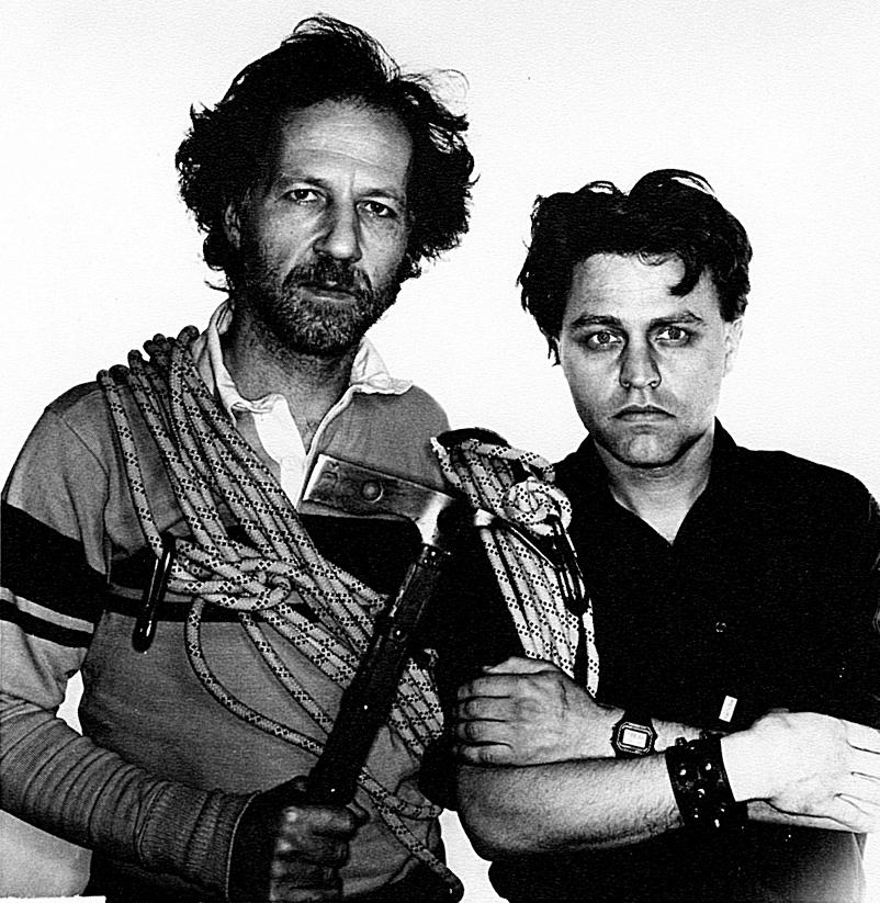 Werner Herzog und Beat Presser,Bologna 1985