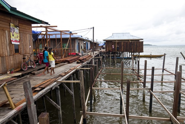 The newly-rebuilt Orang Laut settlement in Sorong